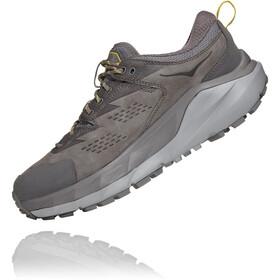Hoka One One Kaha GTX Low Shoes Men, charcoal gray/green sheen